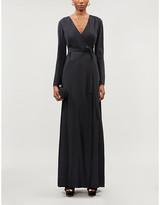 Diane von Furstenberg Tilly wrap-over crepe maxi dress
