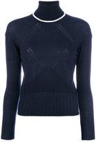 Kenzo roll neck jumper - women - Silk/Wool - XS