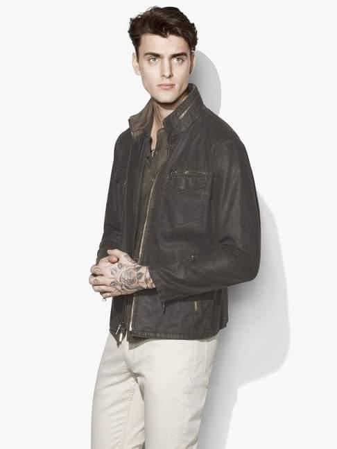 John Varvatos Coated Field Jacket