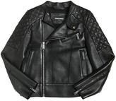DSQUARED2 Leather Jacket W/ Quilted Details