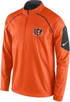 Nike Men's Cincinnati Bengals Alpha Fly Rush Quarter-Zip Jacket