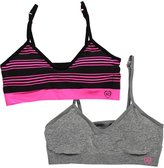 "XOXO Girl ""Padded Jogger"" 2-Pack Sports Bras"