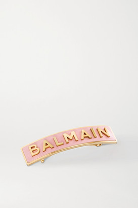 Balmain Paris Hair Couture Gold-plated And Leather Hair Clip - one size