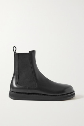 The Row Leather Chelsea Boots - Black