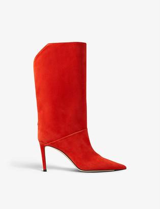 Jimmy Choo Beren 85 suede calf-high boots