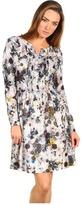 Paul Smith - Long Sleeve Tie Dye Dress (Floral Print) - Apparel