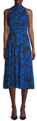 Sam Edelman Floral Tie-Neck Midi Dress