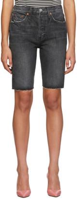 RE/DONE Black Originals Denim 80s Long Shorts