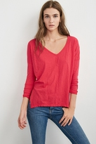 Hollis Cotton Slub V-Neck Tee