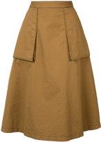 Maison Margiela pleated skirt - women - Cotton/Linen/Flax - 42