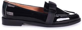 Linzi FAINA - Black Patent Loafer with Organza Bow