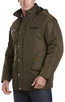 Synrgy Faux-Leather Trimmed Jacket Casual Male XL Big & Tall