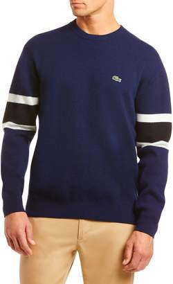 Lacoste Oversize Crewneck Wool Blend Sweater