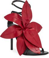 Giuseppe Zanotti Leather Flower Strappy Sandals