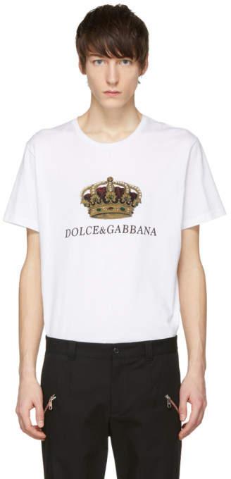 Dolce & Gabbana White Crown T-Shirt