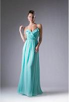 Unique Vintage Mint Blue Ruffle Long Dress