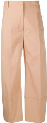 Cédric Charlier Cropped Straight-Leg Trousers