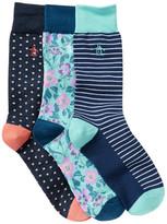Original Penguin Assorted Crew Socks - Boxed Set of 3