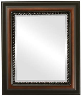 """The Oval And Round Mirror Store Heritage Framed Rectangle Mirror in Walnut, 25""""x29"""""""
