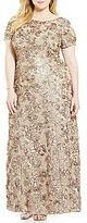 Alex Evenings Plus A-Line Rosette Gown