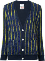 Coohem Club striped tweed cardigan - women - Cotton/Nylon/Polyester - 38