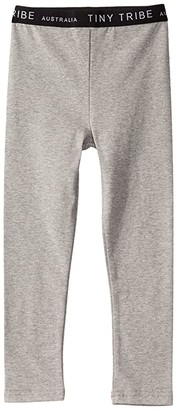 TINY TRIBE Leggings (Toddler/Little Kids) (Grey) Girl's Casual Pants