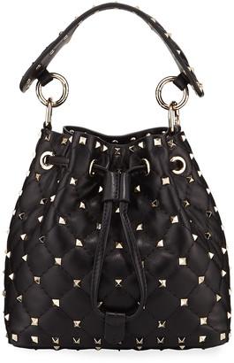 Valentino Garavani Rockstud Spike Quilted Bucket Bag