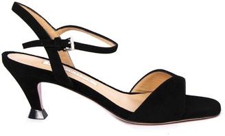 Roberto Festa Black Suede Ariete Sandals