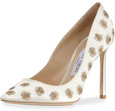 Jimmy Choo Romy Embroidered Satin Pump