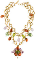 Oscar de la Renta Multistone Chain Necklace