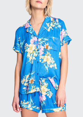 PJ Salvage Beach Babe Tropical Short Sleeve Pajama Top