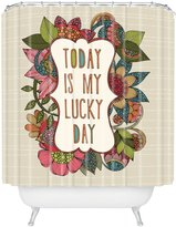 DENY Designs 71 by 94-Inch Valentina Ramos Today is My Lucky Day Shower Curtain, Extra Long