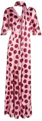 Dolce & Gabbana Silk Polka-Dot Maxi Dress