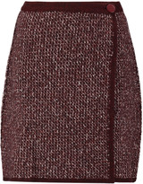 Sonia Rykiel Stretch wool-blend bouclé wrap mini skirt