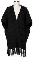 Merona Women's Knit Ribbed Shawl with Fringe