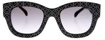 Alaia Gradient Studded Sunglasses