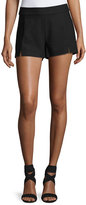 Ramy Brook Adele Slit-Front Shorts, Black