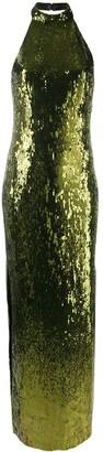 Galvan Halterneck Sequin Gown