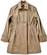 BOSS Beige Cotton Trench Coat for Women