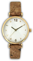 OLIVIA PRATT Olivia Pratt Cork Womens Brown Strap Watch-60000