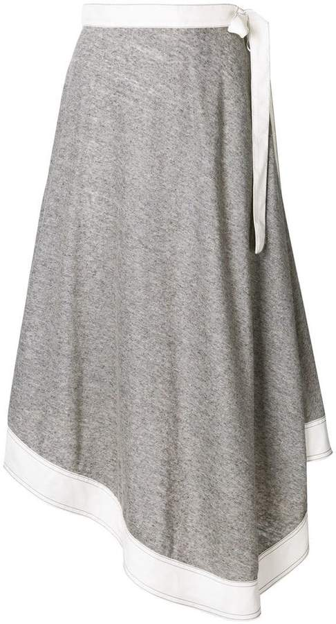Loewe wrap midi skirt