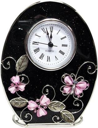 Elégance Pink Butterfly Clock