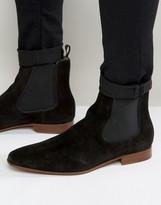 Aldo Biondi Suede Chelsea boots
