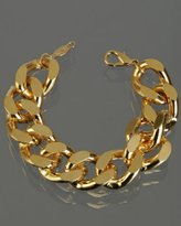 gold twisted chain link bracelet