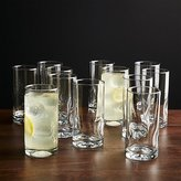 Crate & Barrel Impressions Cooler Glasses, Set of 12