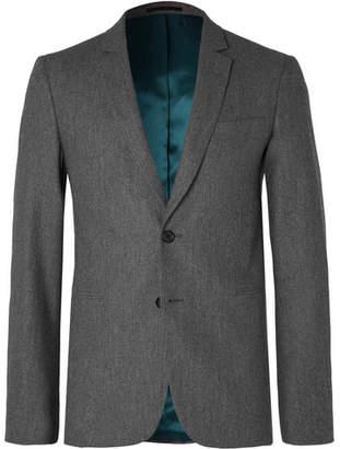 Paul Smith Grey Slim-Fit Melange Wool-Flannel Suit Jacket