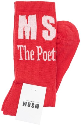 MSGM Stretch Cotton Knit Socks