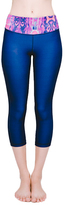 Vibrant Bukhara Navy Essential Cropped Legging