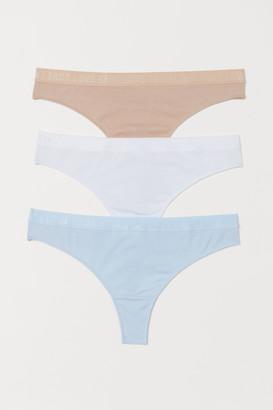 H&M 3-pack Cotton Thong Briefs