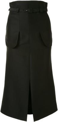 Mame Kurogouchi High-Waisted Belted Skirt